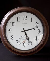 AcuRite 18 Aged Bronze Indoor or Outdoor Clock with Thermometer