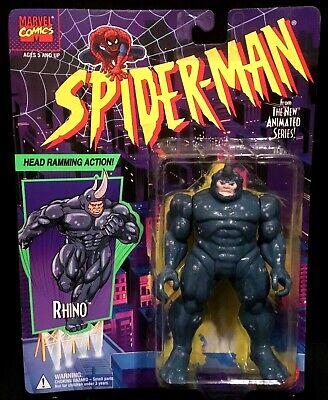 "Spider-Man The Animated Series ""RHINO"" Action Figure Toy Biz 47127 1994 Rare NIP"
