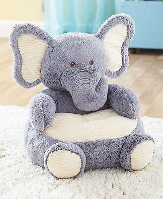 TODDLER KIDS PLUSH ANIMAL SHAPED ULTRA SOFT ELEPHANT NURSERY CHAIR FURNITURE