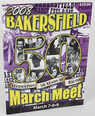 2008 Bakersfield March Meet 50th NHRA Drag Racing Program Snake & Mongoose -