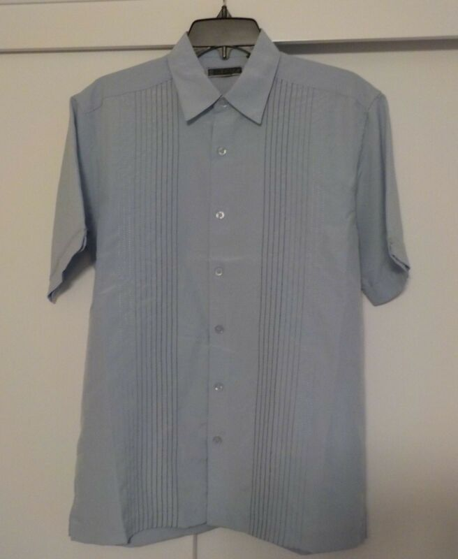 Cubavera short sleeve light blue small