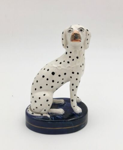 Antique Staffordshire PotteryFigure of a Dalmation Dog
