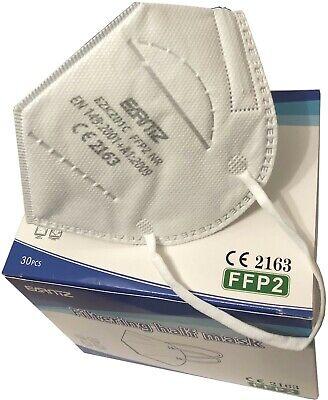 30x FFP2 Maske Atemweg Nase Mund Gesichts Schutz Bedeckung Maske Für DE EU CORO