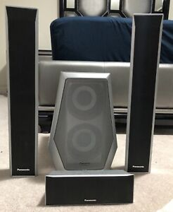 Panasonic 3.1CH 1000W 5-DVD Home Theatre Speakers System