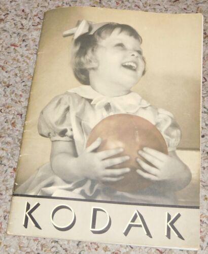 Kodak ~ Kodaks And Kodak Supplies, 1936 - 1937 Book