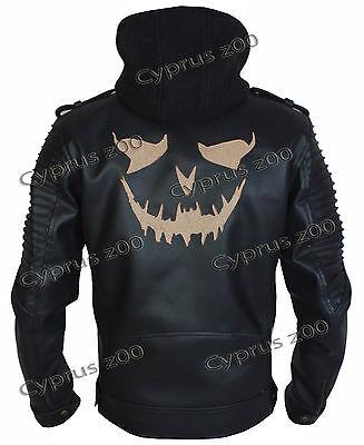 Suicide Squad New The Killing Leather Jacket Joker biker Moto for Men