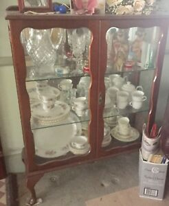 VERY OLD ANTIQUE CHINA CABINET WITH MIRROR Pitt Town Hawkesbury Area Preview