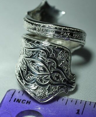 Antique 1872 TIFFANY & Co PERSIAN STERLING Spoon Ring  Size 7 Teaspoon (L)