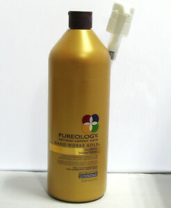 Pureology Nano Works Gold Shampoo 33.8 oz Liter with Pump Nanoworks