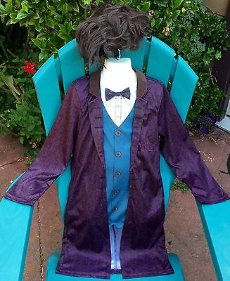 NEW AUTHENTC 11TH DR DOCTOR WHO MATT SMITH COSTUME JACKET WIG CHILD BOY M L 8 - Dr Who Child Costume