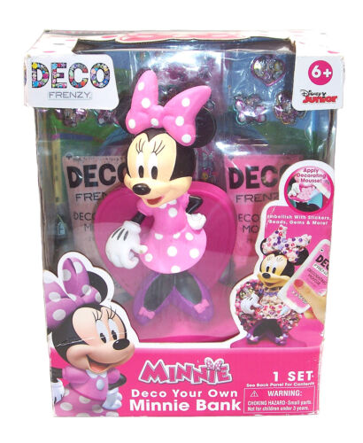 """Disney Deco Frenzy Minnie Mouse Money Bank, 9"""" Tall, Arts Crafts"""
