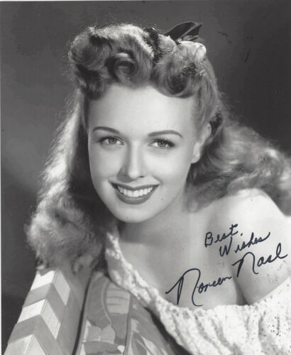 ACTRESS NOREEN NASH SIGNED AUTHENTIC PHANTOM FROM SPACE 8X10 PHOTO B w/COA GIANT