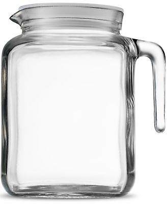 Bormioli Rocco Hermetic Seal Glass Pitcher With Lid and Spou