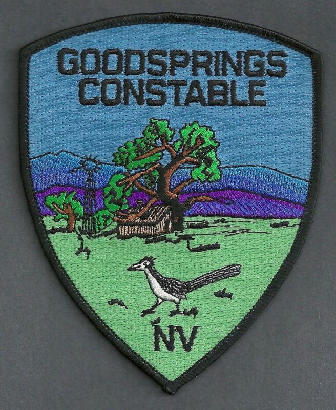 GOODSPRINGS CONSTABLE NEVADA POLICE SHOULDER PATCH ROADRUNNER!