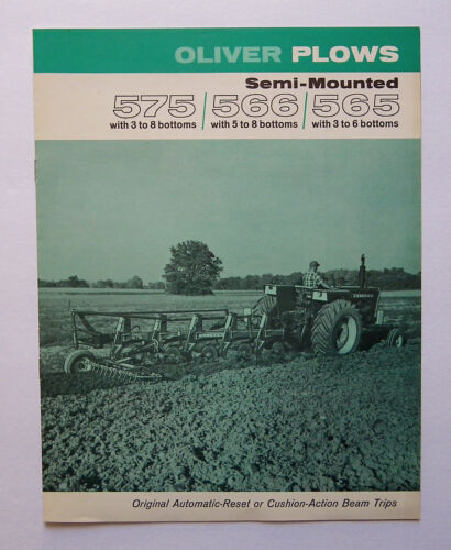 1969 Oliver 575 566 565 Semi-Mounted Plow Brochure 1750 Tractor