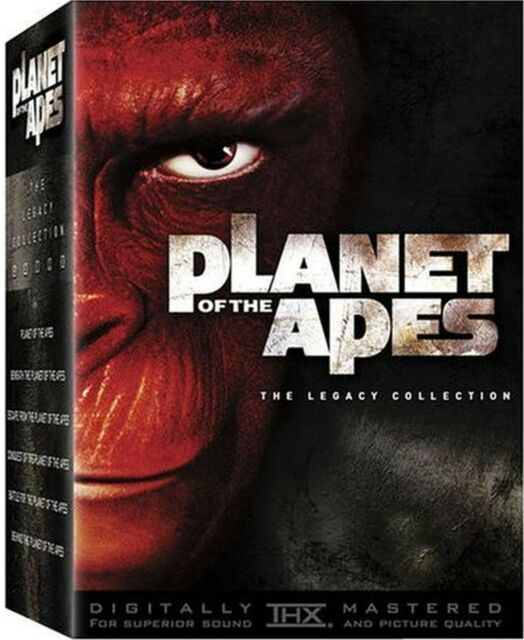 Planet Of The Apes-Legacy Collection. 6xDVD.In Shrink!
