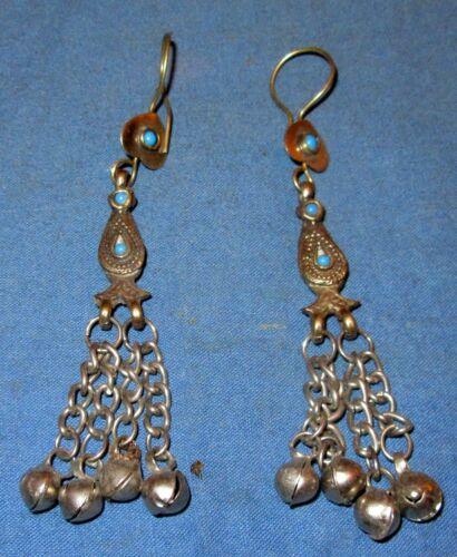 "Earrings Dangle Fashion Afghan Kuchi Tribal Alpaca Silver 2"""