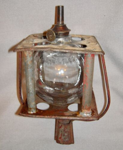Nice Early Parade Torch with a Patented Glass Ball