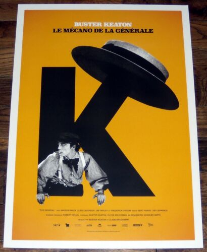 BUSTER KEATON 2017 retrospective silent movie SMALL french POSTER #1 The General