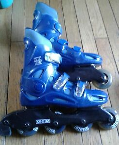 Teenagers  size 7 ccm blue Lazer roller blades  very  good shape