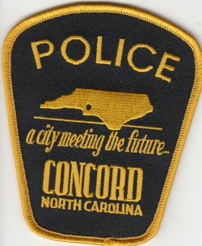 """CONCORD NORTH CAROLINA POLICE SHOULDER PATCH NC """"A CITY MEETING THE FUTURE"""""""