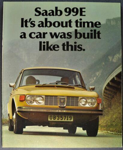 1972 Saab 99E Catalog Sales Brochure Sedan Excellent Original 72