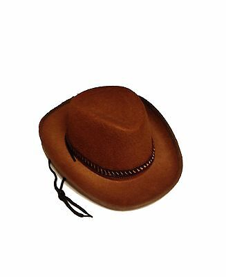 Child Size Cowboy Hat Brown DELUXE QUALITY Costume Cow Boy Rodeo Kids Boys NEW Child Brown Cowboy Hat