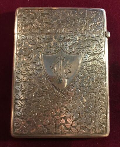 Antique British Sterling Silver Card Case 1903
