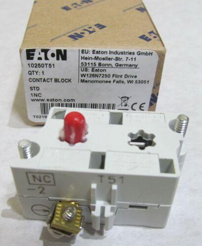 NEW EATON/ CUTLER HAMMER 10250T51 SERIES D2 CONTACT BLOCK STD 1NC