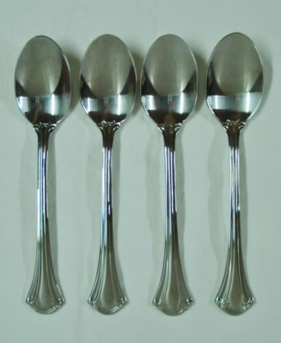4 International Resplendence 18/10 Stainless Teaspoons Minty Teaspoon Sets