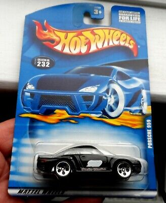 RARE 2000 HOT WHEELS PORSCHE 959 TWIN TURBO CAR IN BLACK - MADE IN CHINA SUPERB