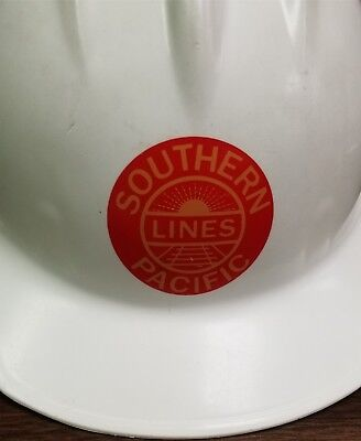 Southern Pacific Railroad Vintage White Hard Hat