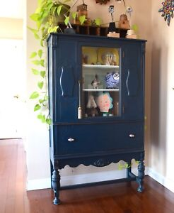 Astonishing professionally refinished antique hutch/cabinet