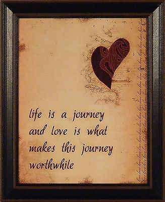 Journey Framed - LIFE IS A JOURNEY by Anna Quach 14x17 FRAMED PRINT Heart Love Inspirational