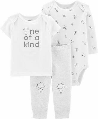 Carters Baby Boys, Newborn 3 piece One Of A Kind Sheep Layette Set -MSRP $24.00