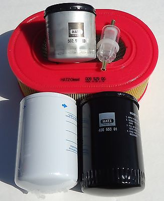US Jetting HATZ Engine 3L40 3L41 3L Fluid Filter KIT Hydraulic Sewer Jetter