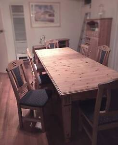 European Pine Dining Table with Chairs Beaumaris Bayside Area Preview