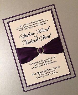 Eggplant, Silver And Cream Layered Wedding -