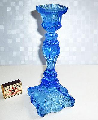 Pressglas Kerzenleuchter Kerzenständer Halter Barock Jugendstil um 1890