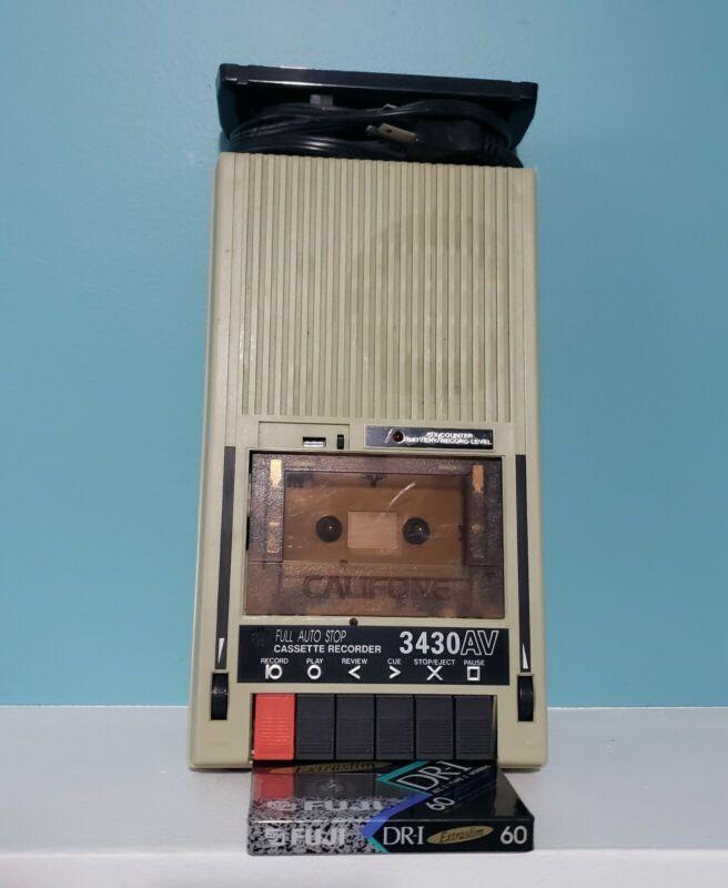 CALIFONE Cassette Recorder Player 3430AV Vintage Fully Functional w Tape