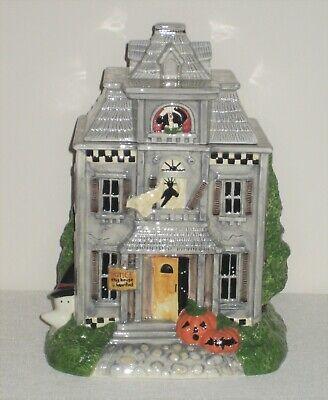 Debbie Mumm Sakura Vintage HALLOWEEN HAUNTED HOUSE COOKIE JAR ~ New Without Box