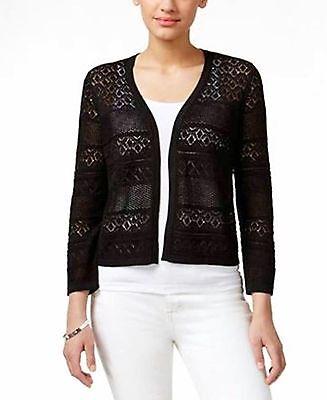 - Tunic Knit Cardigan Sweater Black Womens Small Medium Large S M L XL NEW Z412