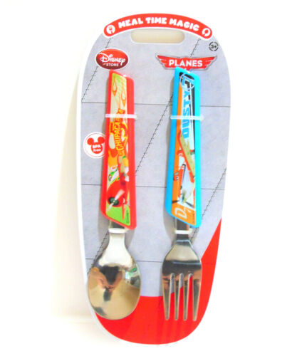NEW Disney Planes Stainless FORK & SPOON Dusty & Chupacabra Childrens Flatware
