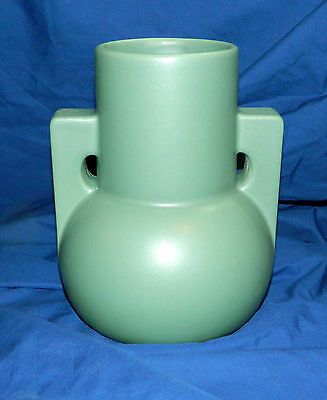 "TECO POTTERY PAGODA VASE  9"" Tall  WILLIAM D. GATES  Prairie Arts and Crafts"