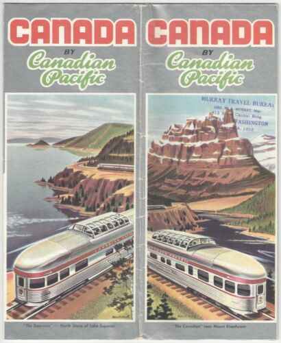 1950s Canadian Pacific Railroad Advertising Brochure - Nice Graphic, Dome Trains