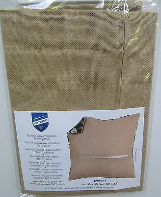 "Cushion Back Cover Tapestry Or Latch Hook Kit Vervaco 18"" x 18"" (45 x 45cm)"