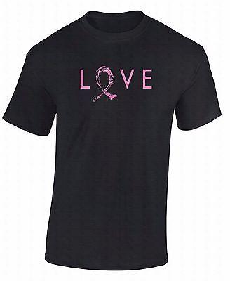 Awareness Faith Hope Love T-shirt (Love Pink Ribbon T-SHIRT Hope Cure Faith Support Breast Cancer Awareness)