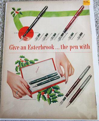 1950's Esterbrook Pens Christmas ad