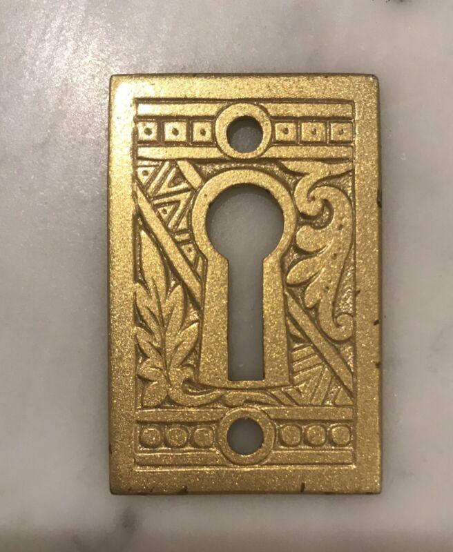 Antique Victorian Eastlake Ornate Key Hole Plate Cover Escutcheon