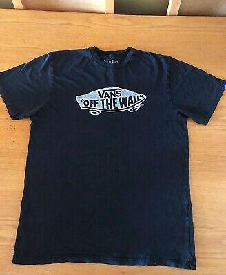 Mens Vans Black T Shirt Size Large (Good Cond)